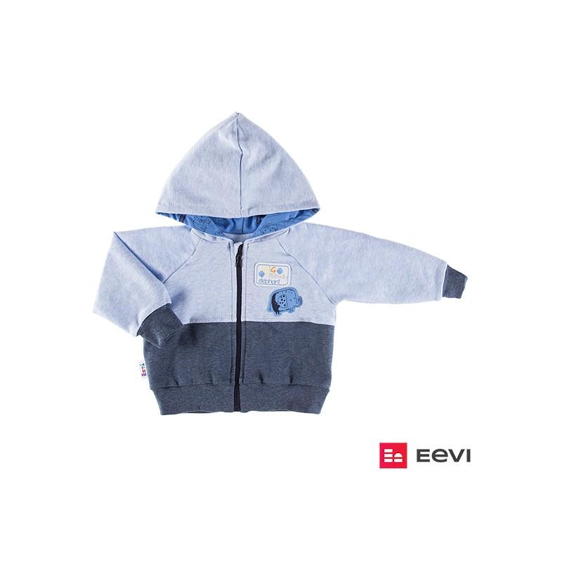 9bb877b85e6942 Bluza z kapturem zapinana na zamek SAWANNA niebieski/melange - Eevi