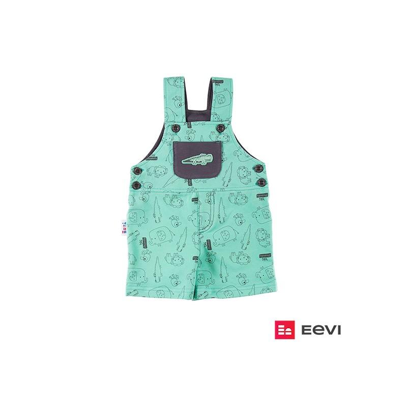 Dungarees shorts SAWANNA green/print