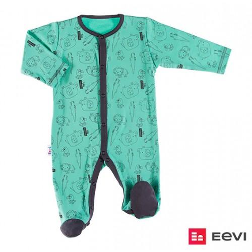 Sleepsuit SAWANNA green/print