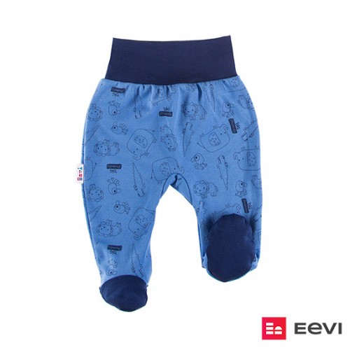 Joggers with feet SAWANNA blue/print