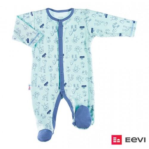 Sleepsuit SAWANNA turquoise/print