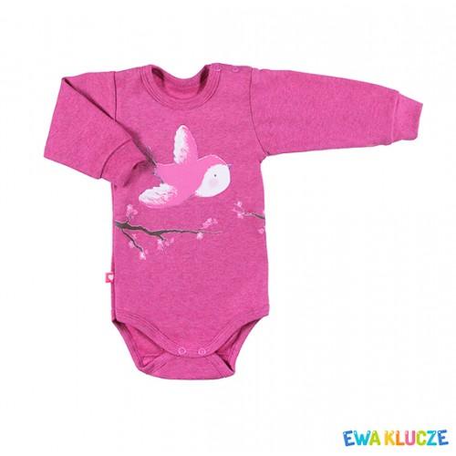 Bodysuit longsleeve BIRD pink/melange