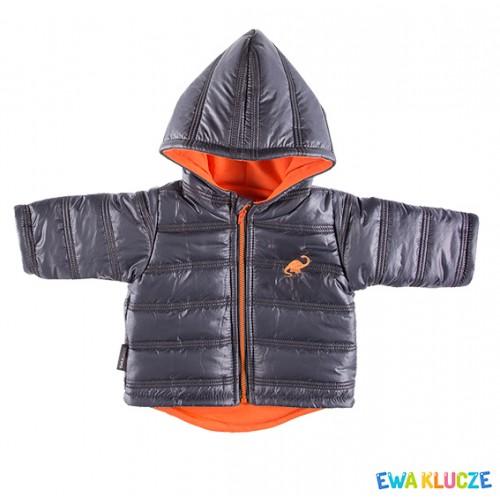 Hooded jacket DINO graphite/orange