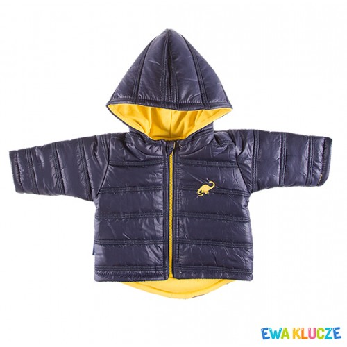 Hooded jacket DINO navy/yellow