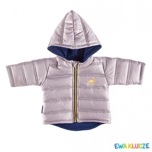 Hooded jacket DINO gray/navy