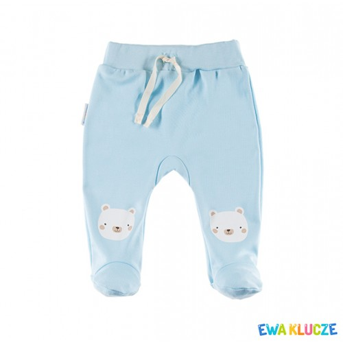 Joggers with feet FLUFFY blue