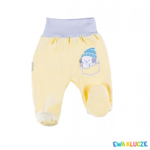 Joggers with feet FRIENDS yellow