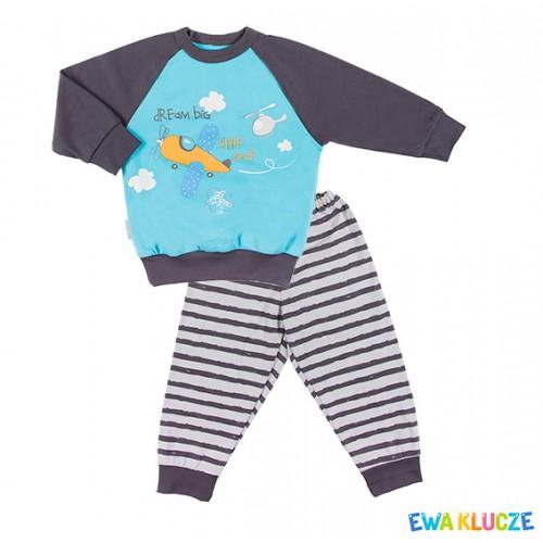 Piżama LITTLE MOON grafitowy/niebieski