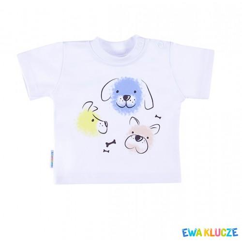 T-shirt LOVELY biały/niebieski