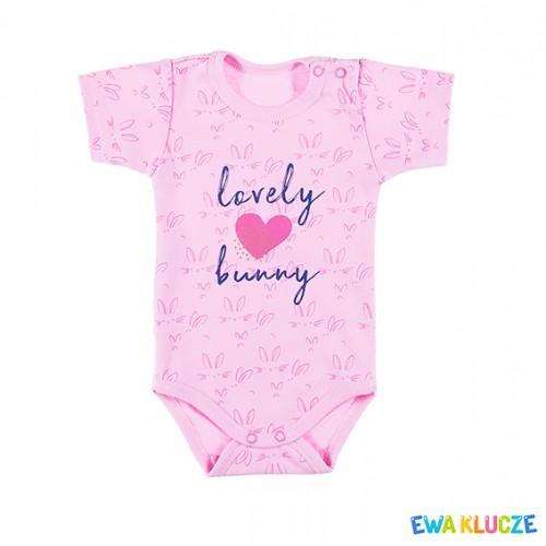Bodysuit short sleeve LOVELY pink/druk