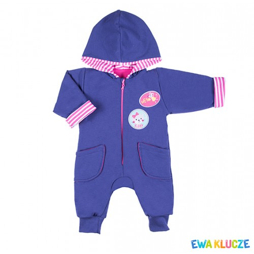 Playsuit MESSY PLAY navy/pink