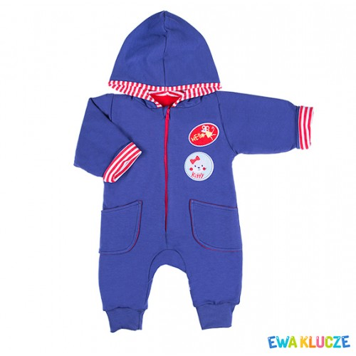 Playsuit MESSY PLAY navy/red