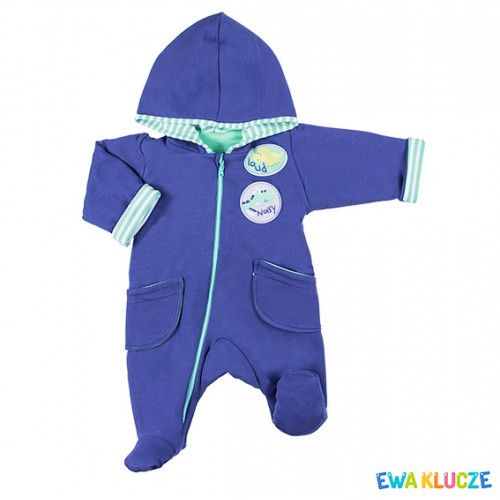 Playsuit with feet MESSY PLAY navy/green