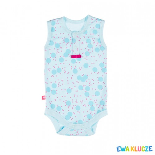 BODYSIUT SUM TIME STRAP GIRL PINK/TURQUOISE COT 062