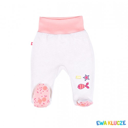 HALF-ROMPERS SUM TIME GIRL BEIGE/CORAL COT 050