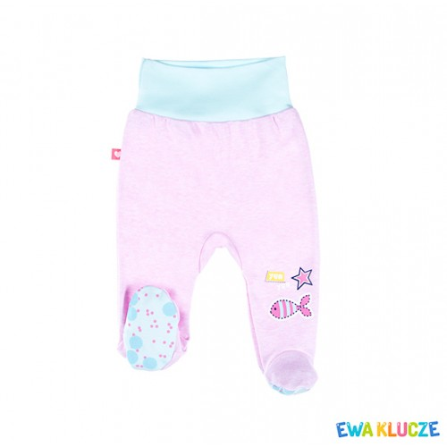 HALF-ROMPERS SUM TIME GIRL PINK/TURQUOISE COT 050