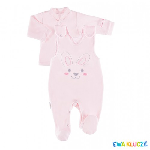 Set kimono shirt and romper suit TRUE LOVE girl pink