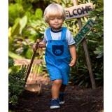 Ogrodniczki szorty SAWANNA niebieski/druk