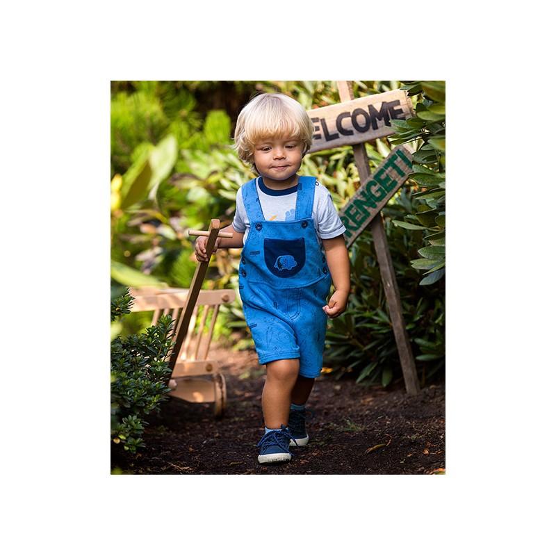 Dungarees shorts SAWANNA blue/print