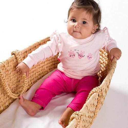 Bluza dresowa z falbanką SUN jasny różowy