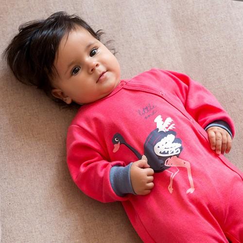 Sleepsuit EMU pink