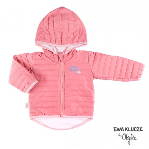 Hooded jacket LITTLE CHAMPION coral