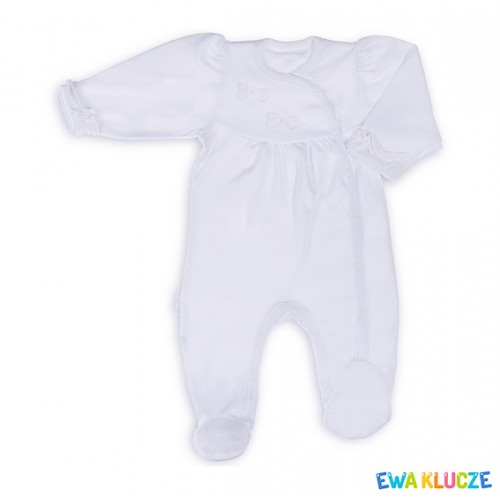 PLAYSUIT HAPPY DAY GIRL COTTON WHITE