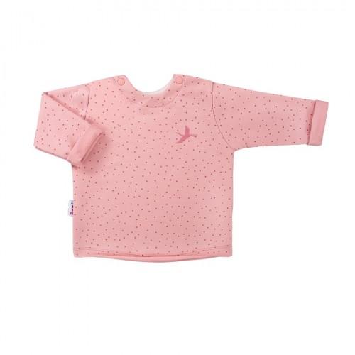 Sweatshirt SKY pink dots
