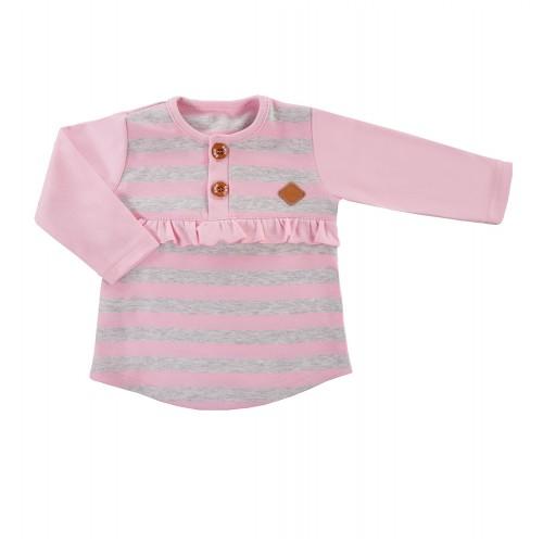 Bluzka TRIP w paski różowy